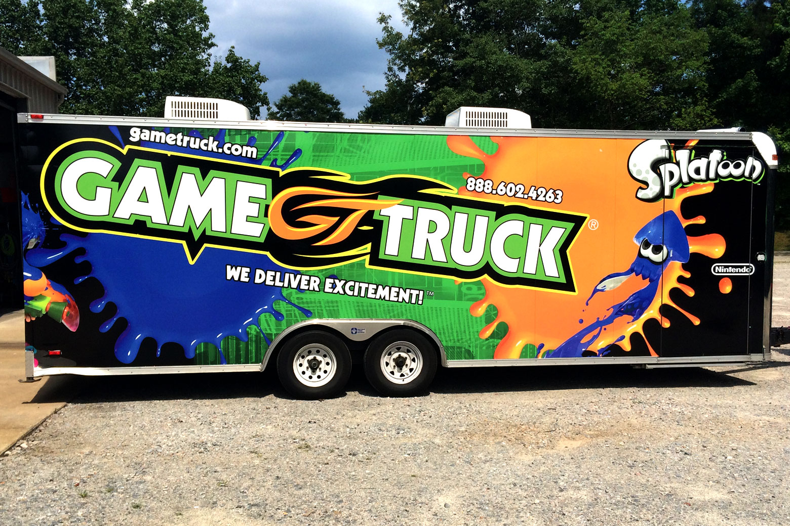 Custom Vinyl Cargo Trailer Wrap
