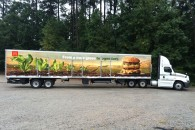 Custom Vinyl Tractor Trailer Wrap